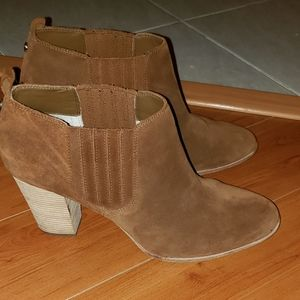 MICHAEL KORS SUEDE LEATHER ANKLE BOOTS SZ 11M